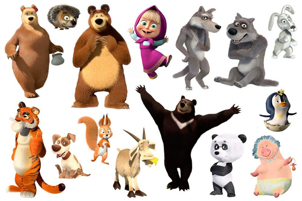 Маша и медведь герои картинки
